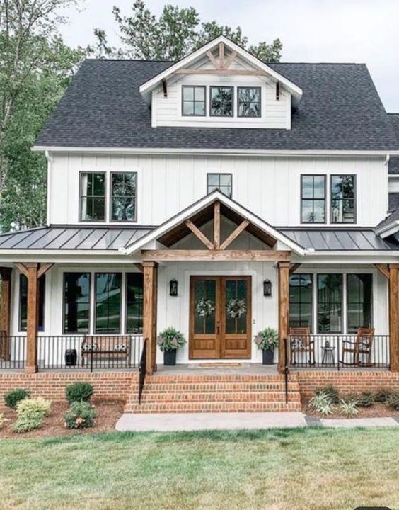 11 Beautiful Modern Farmhouse Exteriors