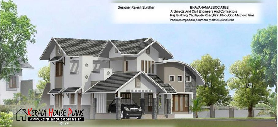 Contemporary Mix Villa Design Part - 27: Modern Mixed Roof Kerala Home Design | Kerala House Plans