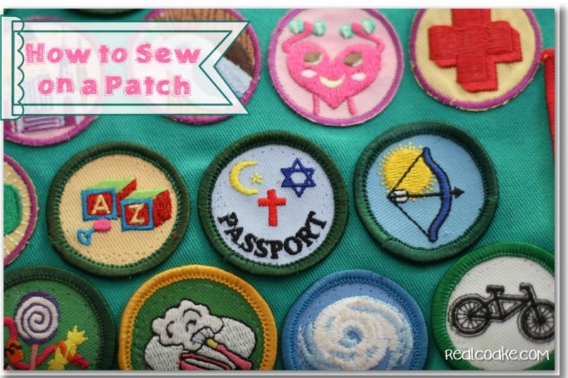 How to Sew on a Patch {Girl Scout Patches or Boy Scout