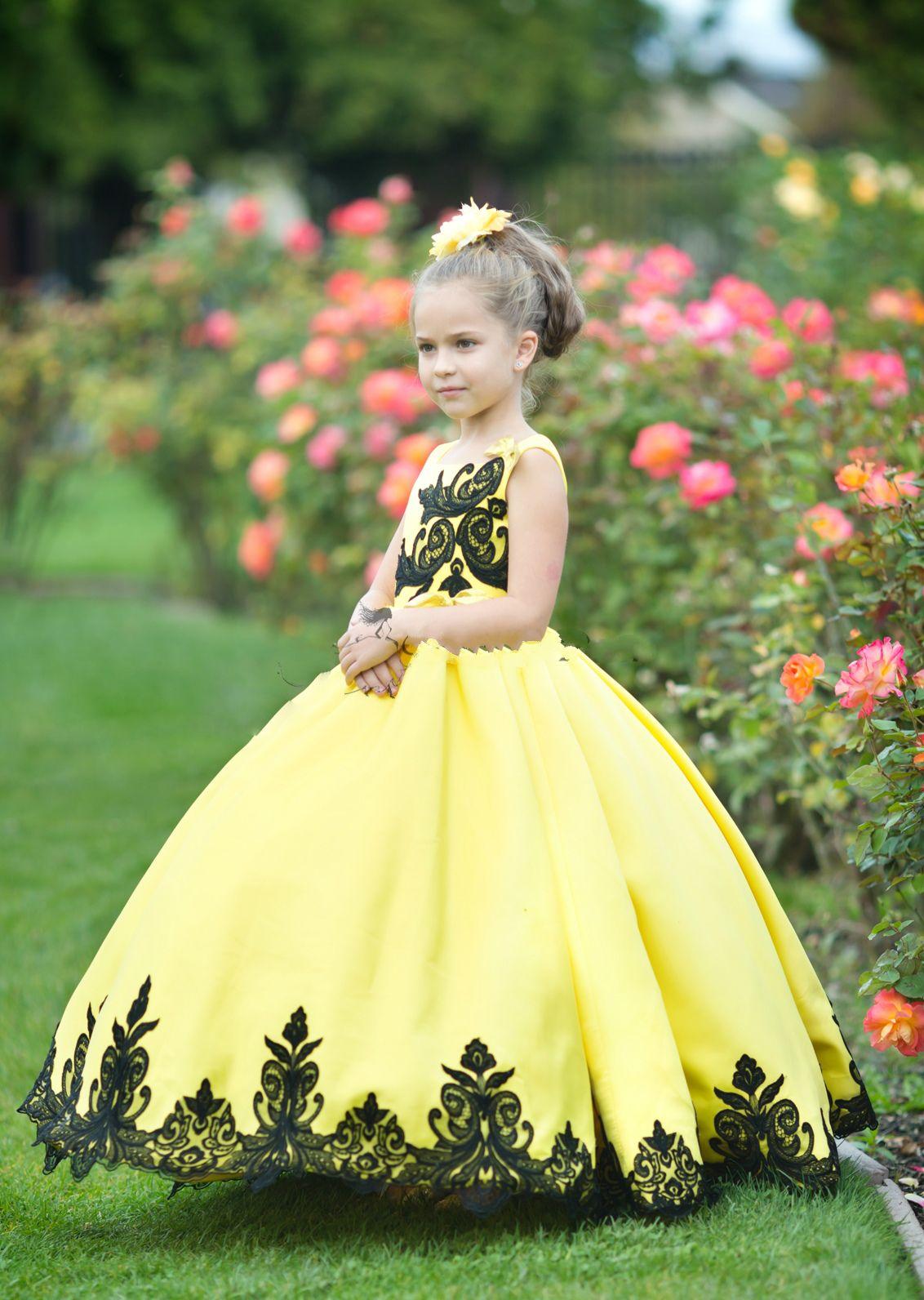 Ein Gelb Blumenmädchenkleider für Blumenmädchen | sußig kinder mit ...