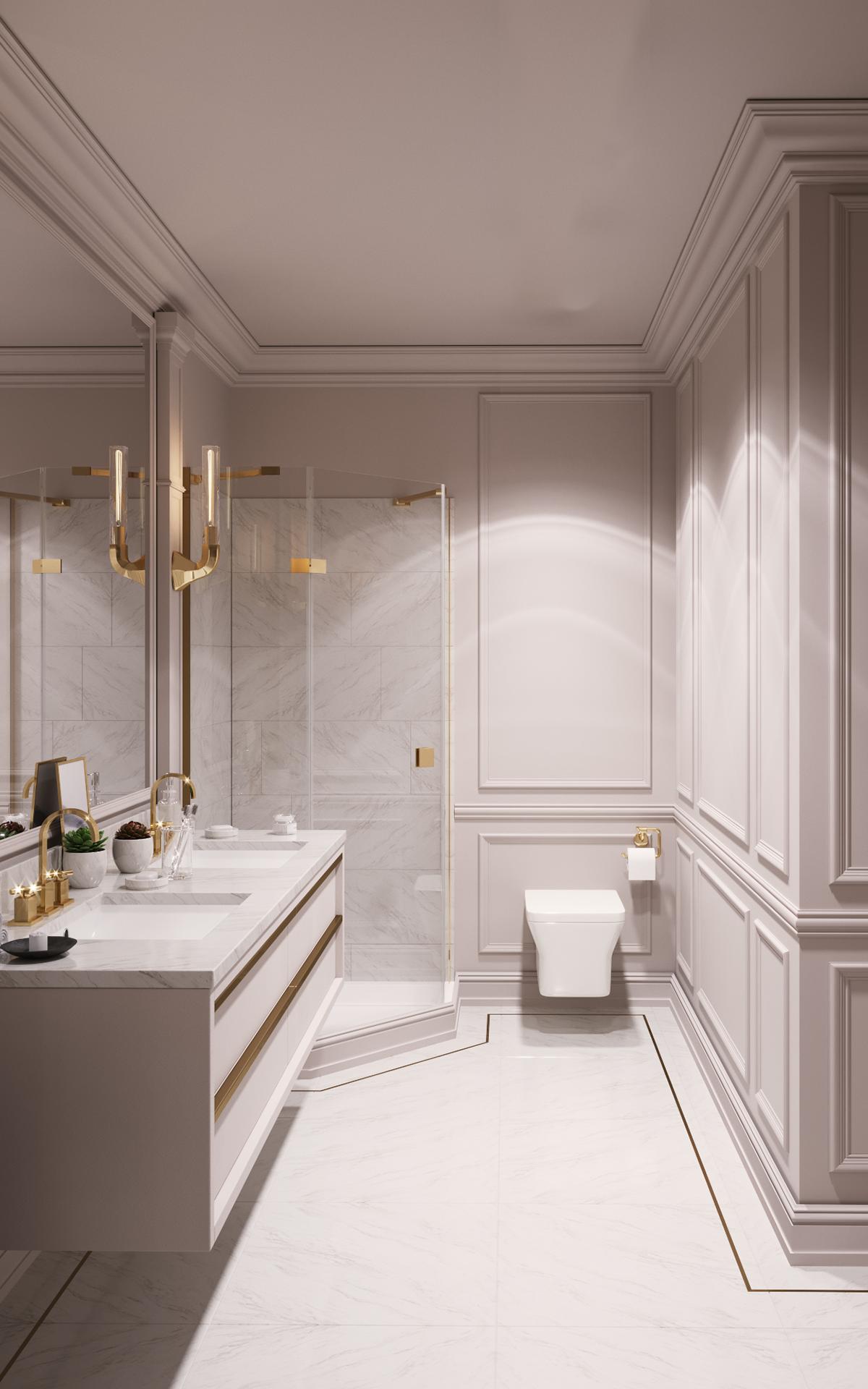 Neo Classic Apartment  Interior Design on Behance in 3