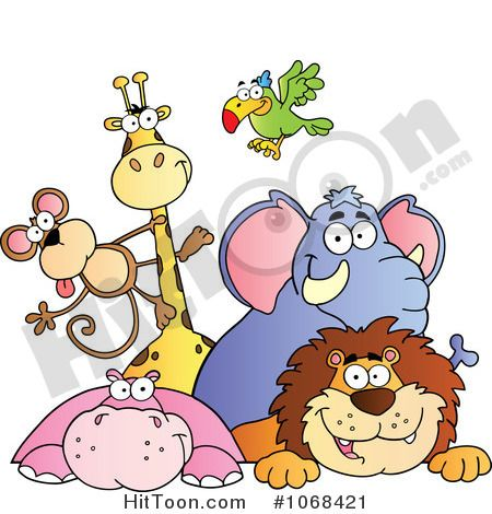 Animals Clipart 1068421 Cartoon Jungle Animals Zoo Animal Coloring Pages Jungle Animals Illustration