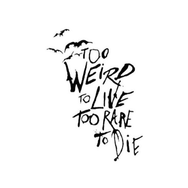 Too Weird To Live Too Rare To Die Panic At The Disco Liked On