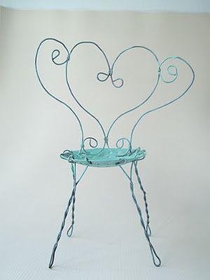 mini wire chair - mini silla de jardín de alambre | muebles ...