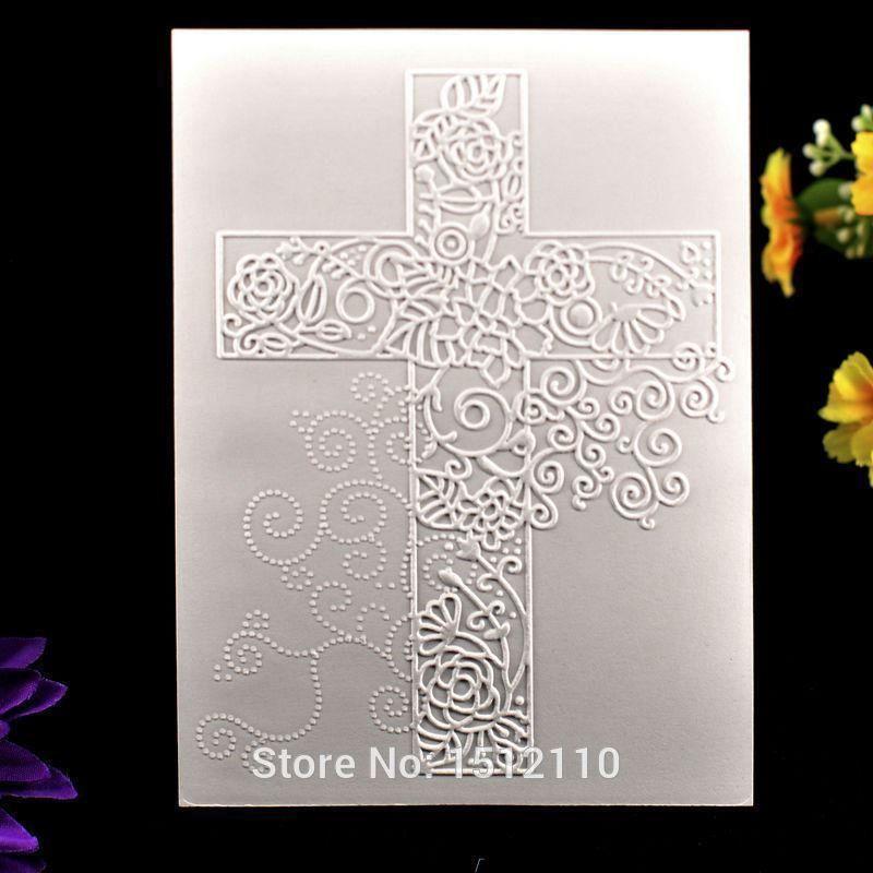 Cross Embossing Folder Plastic Template DIY Scrapbook Photo Album Card Making