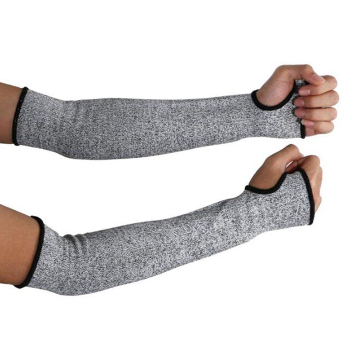 Protective Arm Sleeves Cut-resistant Armband Arm Guard Bracers Anti-Cut Burn