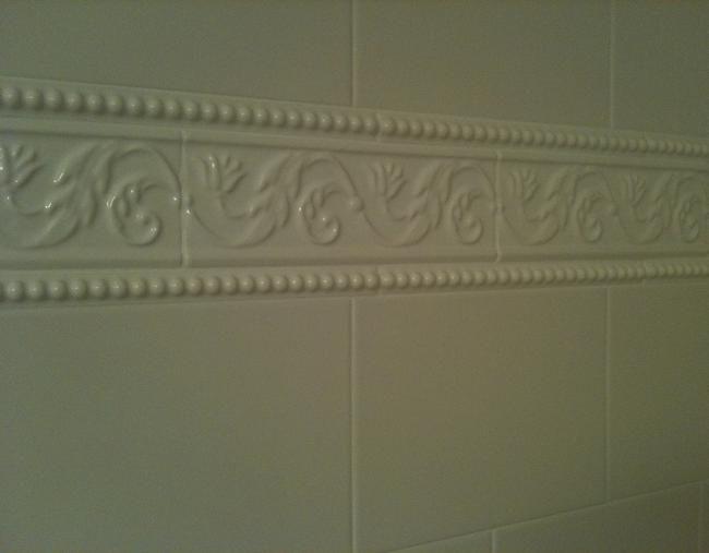 Tampa Florida White 6x8 Subway Tile Shower Installation