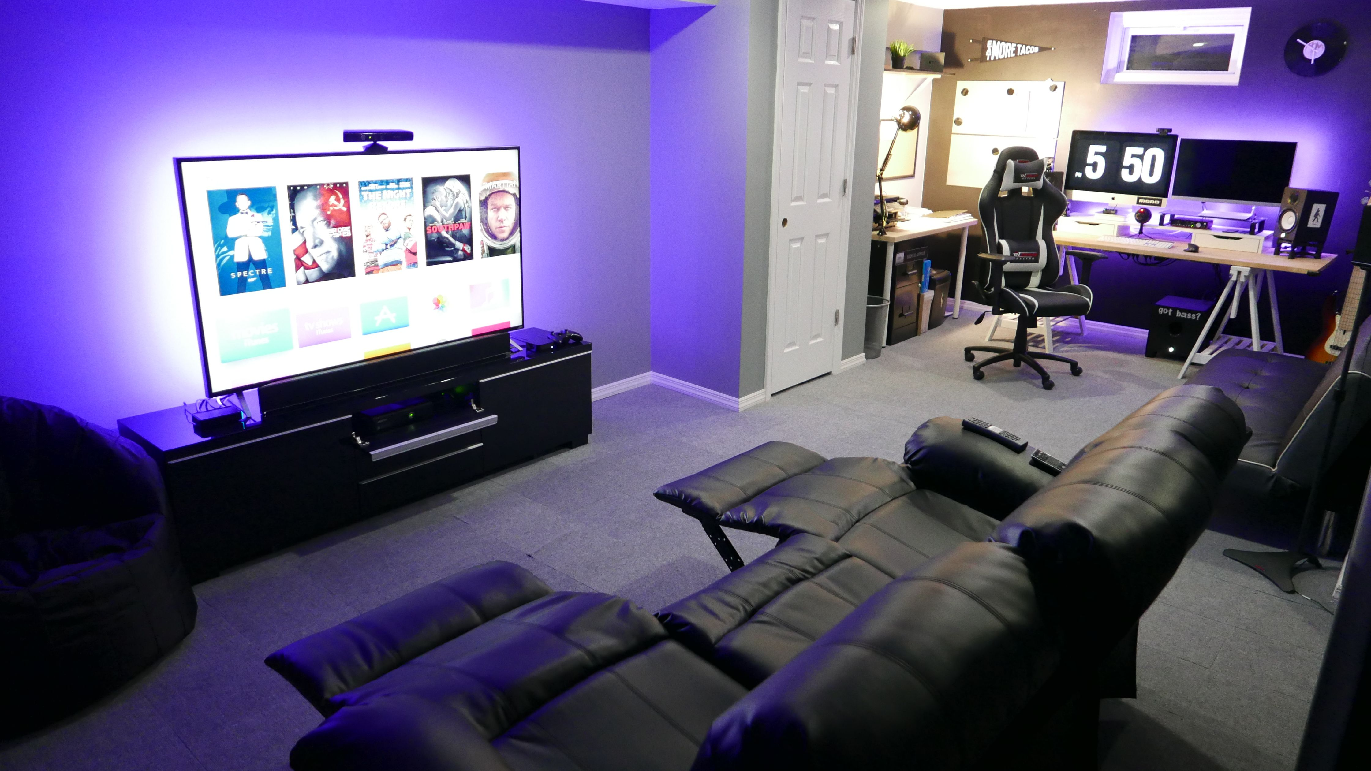 Man Cave Basement Office Gamer Room Entertainment Room Game