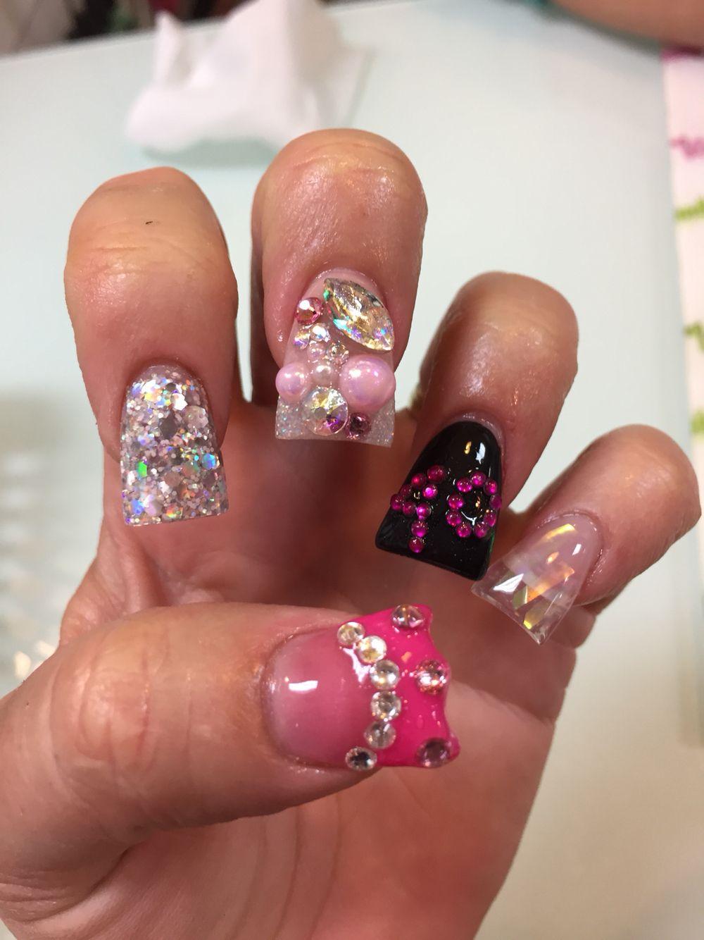 40th birthday nails! #birthday nails #40th