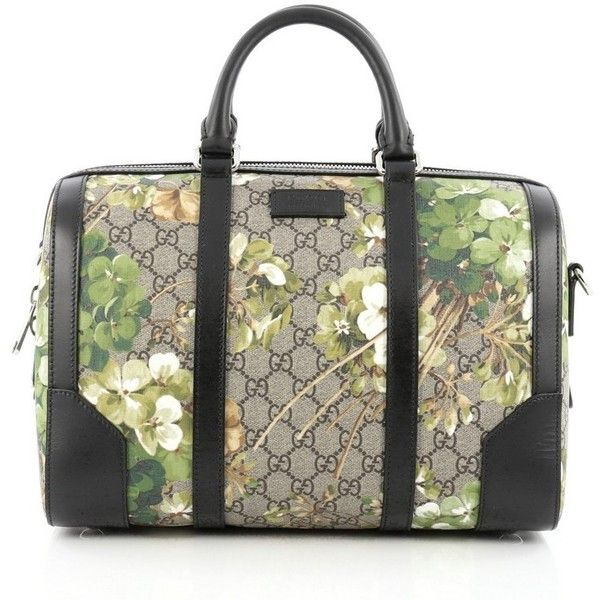 0625edab2461 ($1,350) ❤ liked on Polyvore featuring bags, green, convertible duffel bag,  gucci, floral duffle bag, travel duffle bag and duffel bag