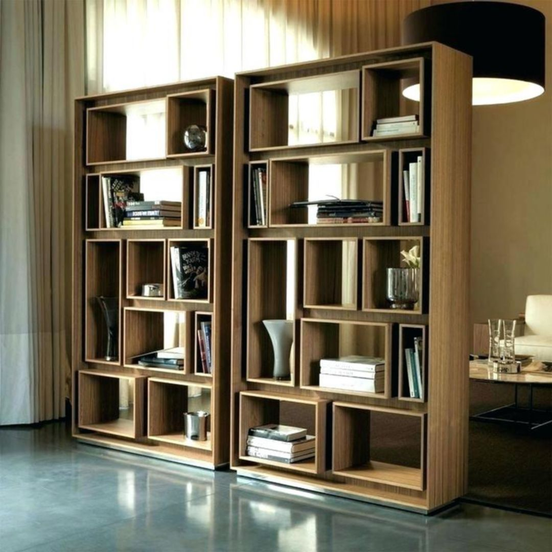 35 Awesome Modern Bookshelf Designs For The Trendy Home Dexorate Modern Bookshelf Design Room Divider Bookcase Walnut Bookcase
