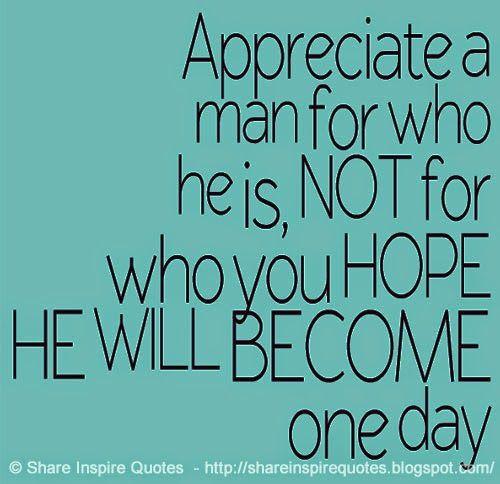 appreciate men