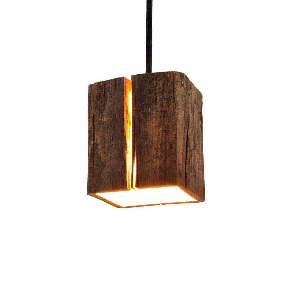 Almleuchten H5 Altholz Hangeleuchte Mit Lichtschlitz Faszinierende Holzlampe Amazon De Beleuchtung