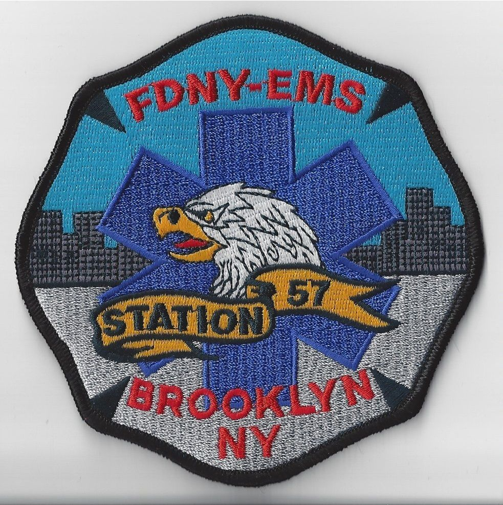 Rare fdny ems station 57 new york fire department patch ny real deal
