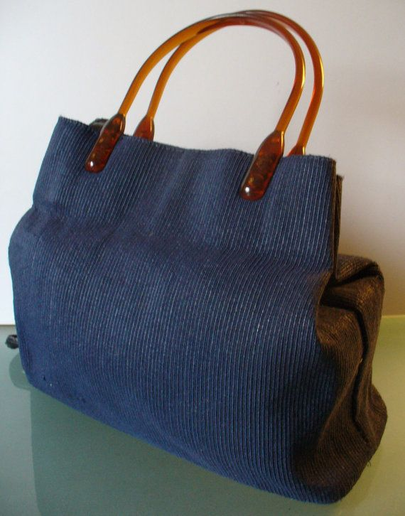 Made in Italy Navy Tote Bag by EurotrashItaly on Etsy, $39.99