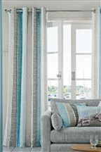 Teal Printed Broken Stripe Eyelet Curtains Teal Living Rooms Curtains Living Room Living Room Grey