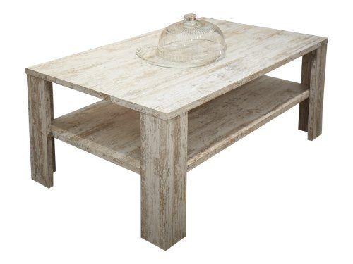 trendteam RV11068 Couchtisch Wohnzimmertisch Tisch weiss Canyon - wohnzimmertisch shabby chic