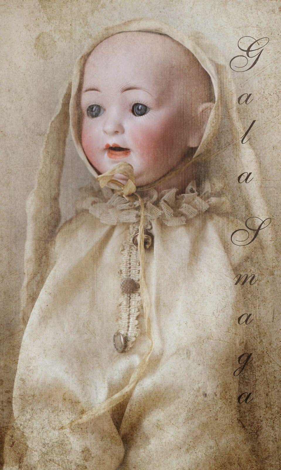 Gala Smaga antique head doll