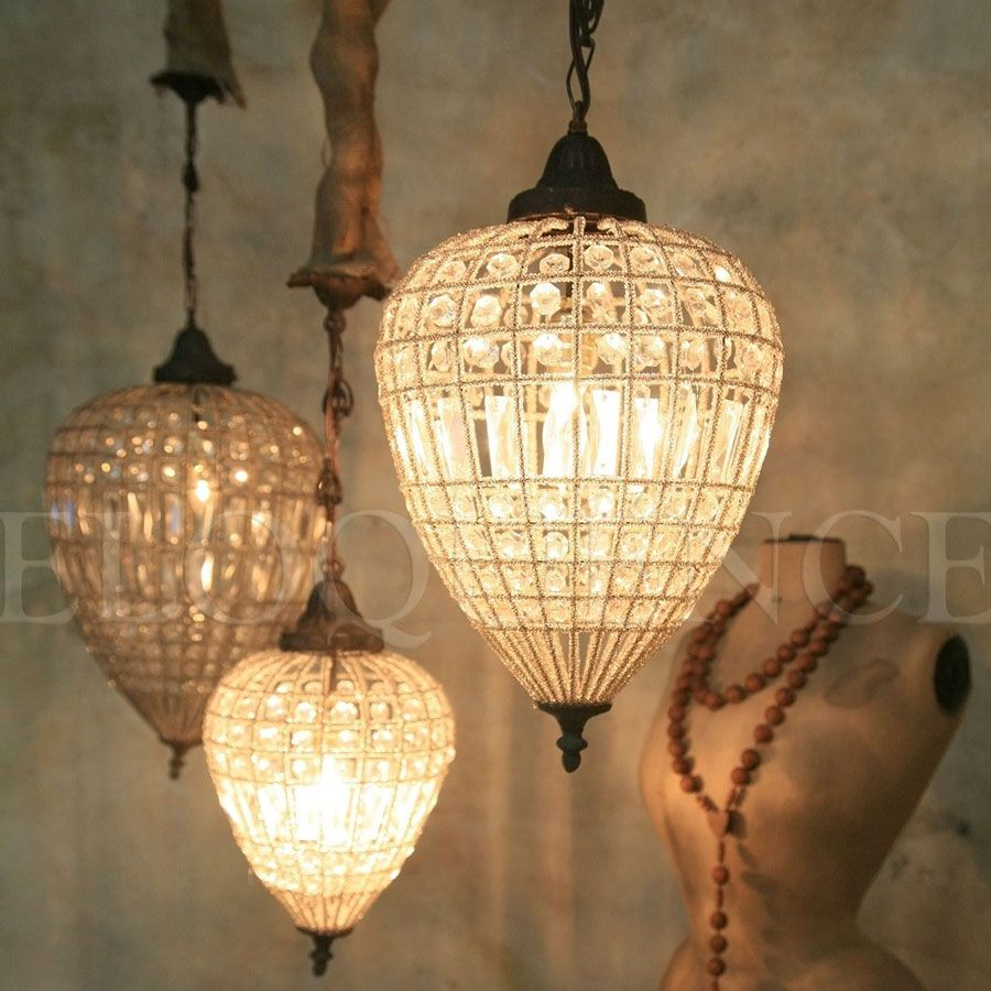 Reproduction Large Teardrop Chandelier By: Cottage Haven Interiors
