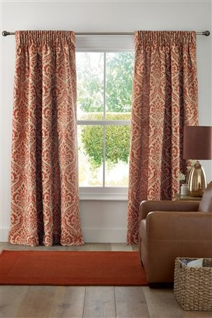 Buy Opulent Damask Jacquard Pencil Pleat Curtains From The Next UK Online Shop
