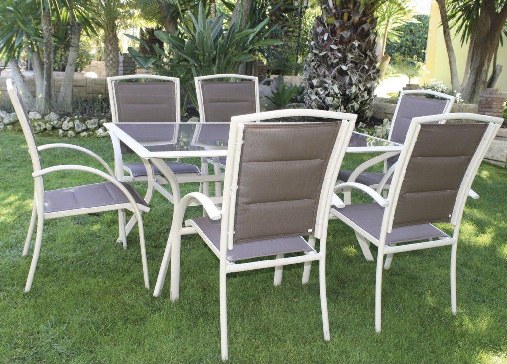 Aluminio y fibra sint tica gran opci n para muebles de jard n for Muebles jardin aluminio