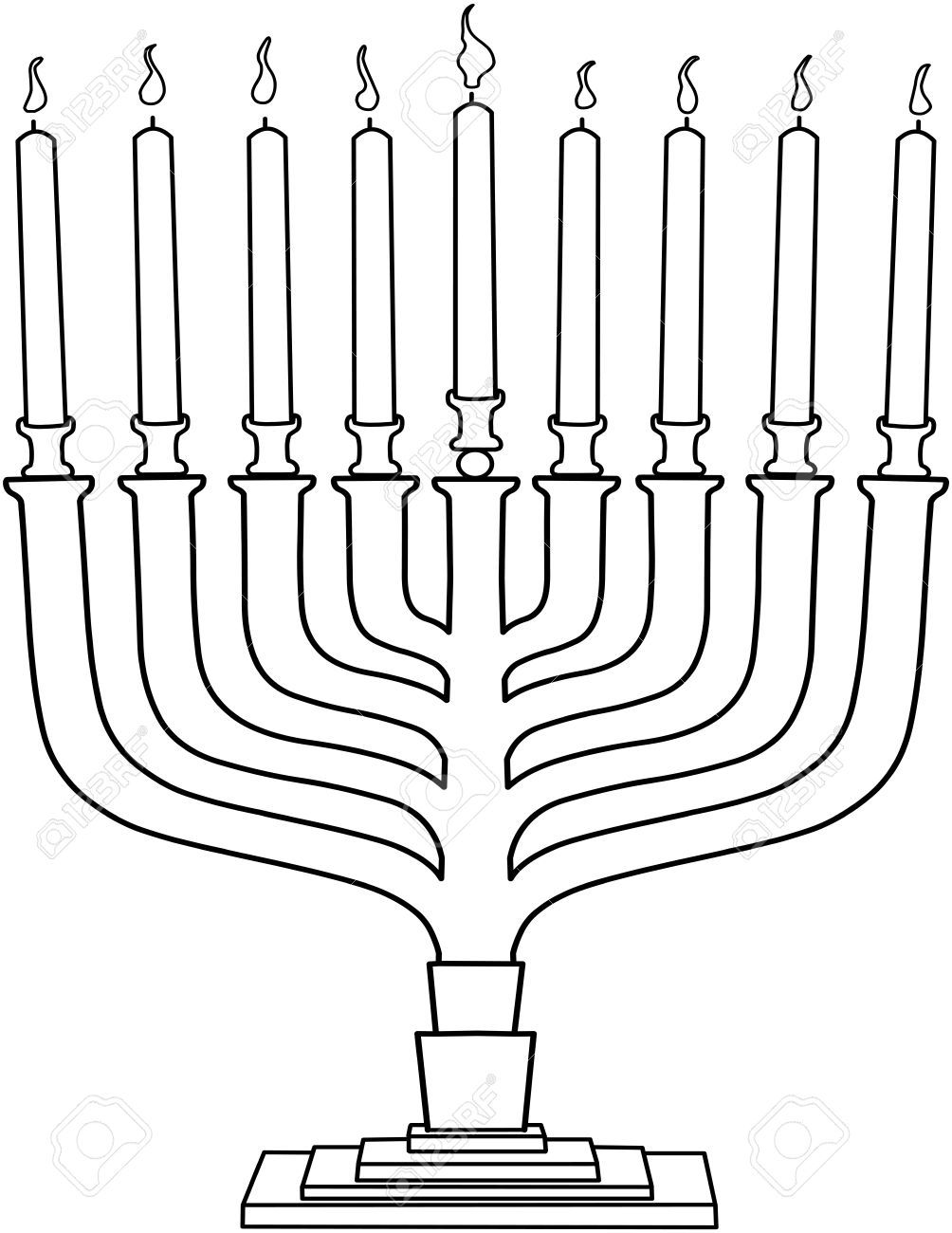 Stock Vector Hanukkah Illustration Coloring Pages