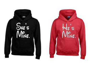 He Is Mine And She Is Mine Matching Hoodies For Couples Matching Hoodies For Couples Couples Hoodies Matching Couple Outfits