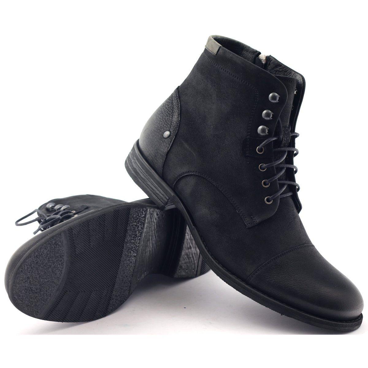 Botki Trzewiki Zimowe Pilpol C831 Czarne Boots Winter Boots Insulated Boots
