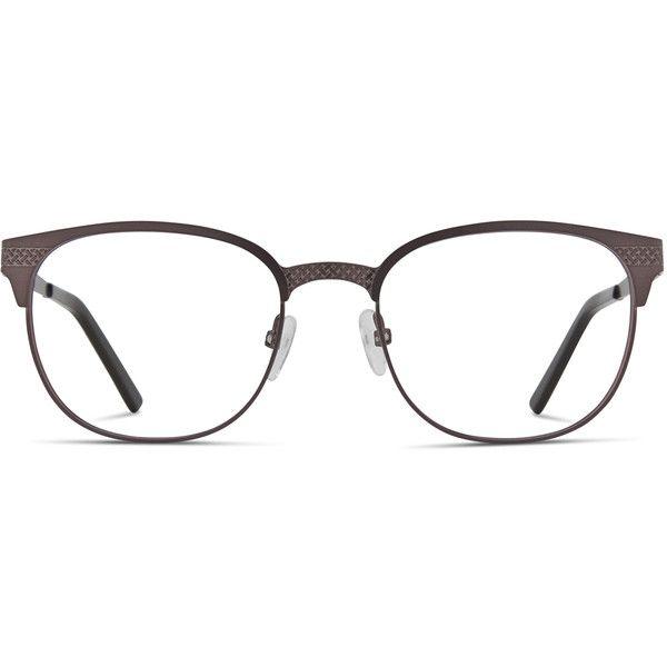 Ottoto Ulysses Gunmetal ($98) ❤ liked on Polyvore featuring accessories, eyewear, eyeglasses, gunmetal, rounded glasses, round glasses, round eye glasses, round eyeglasses and lightweight eyeglasses