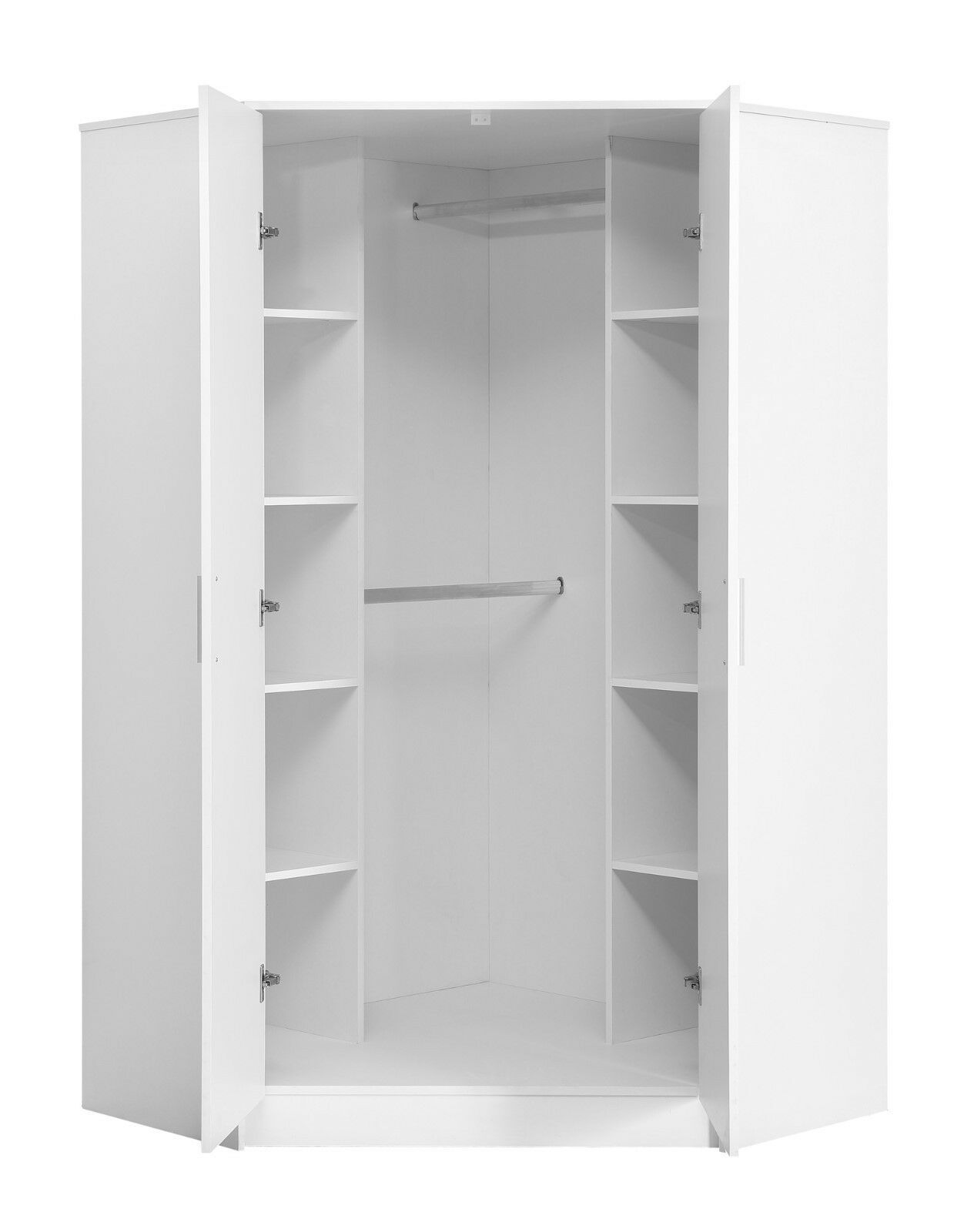 White Gloss Bedroom Furniture in 2020 | Corner wardrobe ...