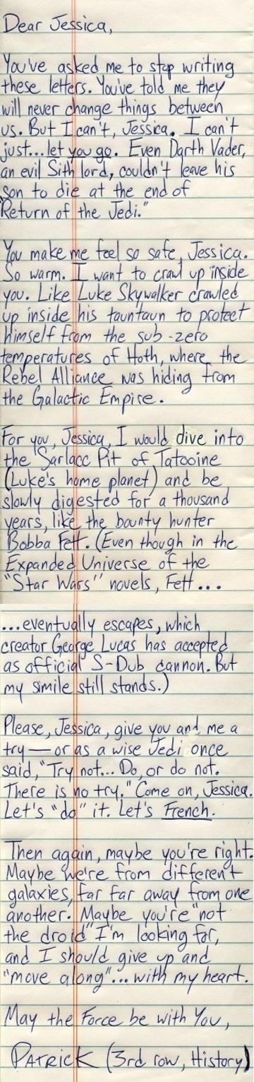 star wars love note is my geek showing again pinterest