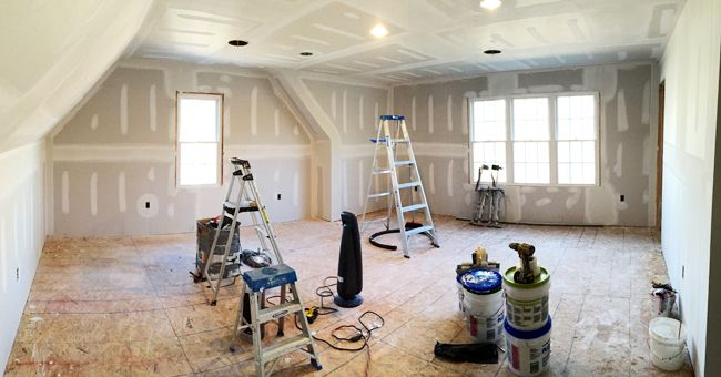 Finishing The Room Over Our Garage Bonus Room Room Above Garage House