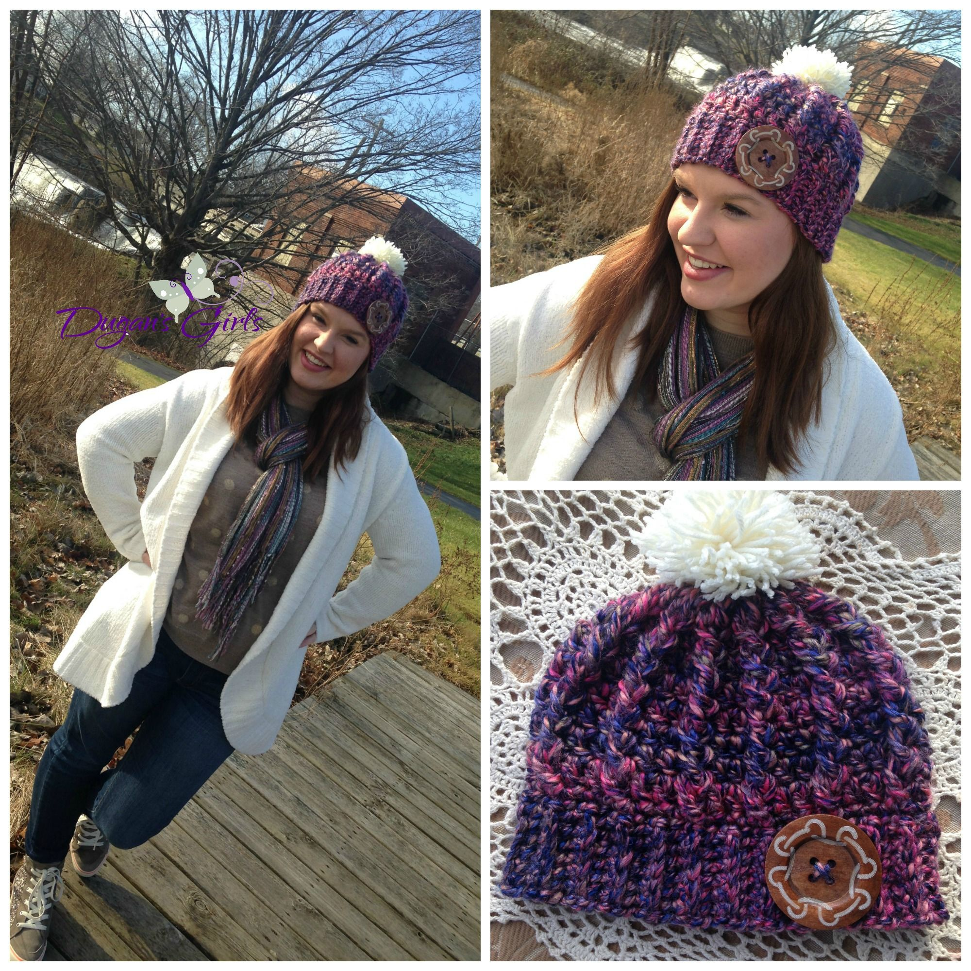 Crochet by Dugan's Girls {Cabled Love hat}