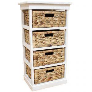 Paris Wood Wicker 3 Drawers 6 Baskets Storage Unit Decoracoes Caseiras Decoracao De Casa Armario Quarto