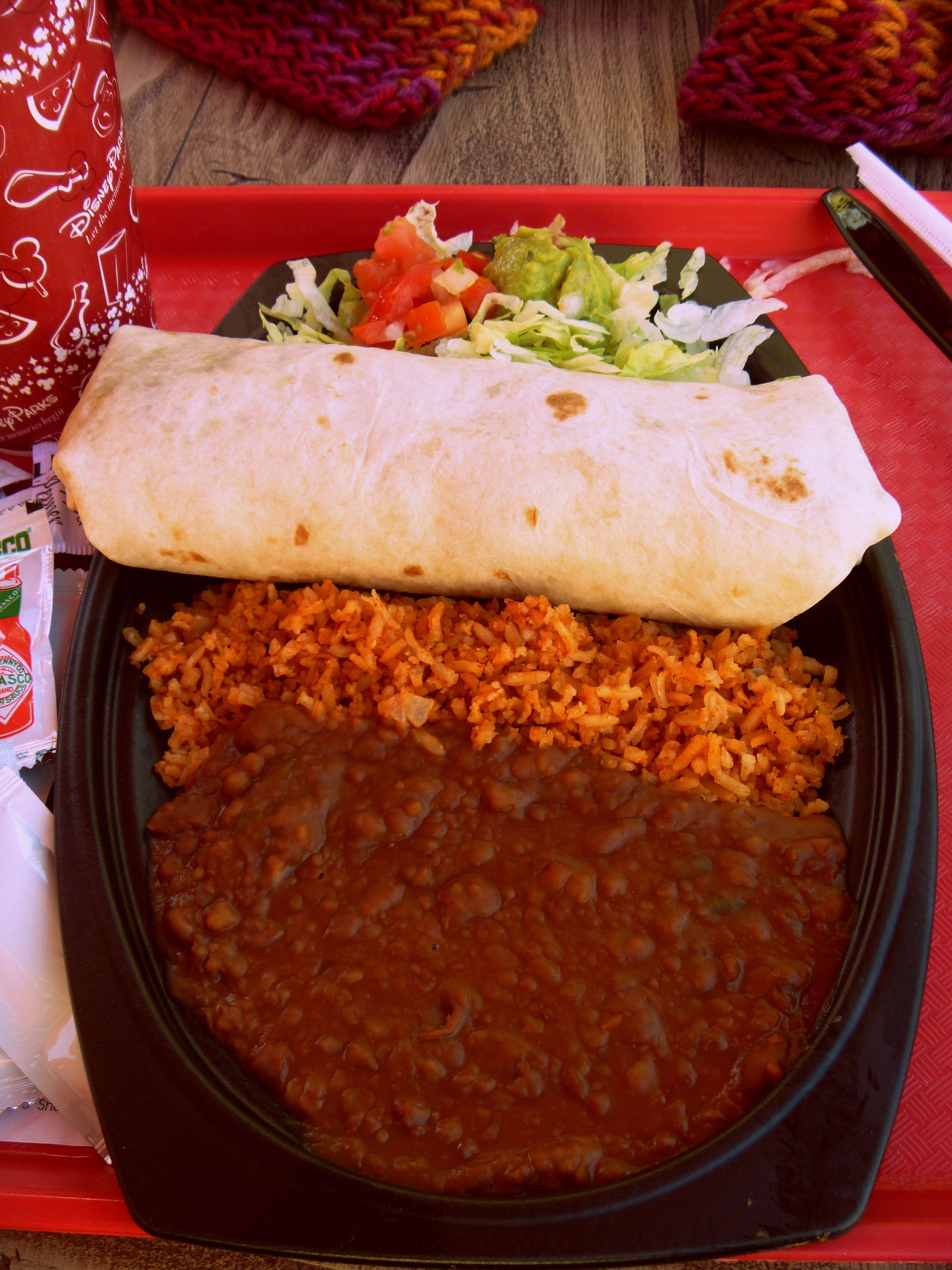 Vegan Disneyland California Adventure Vegan Restaurants California Adventure Veggie Burrito