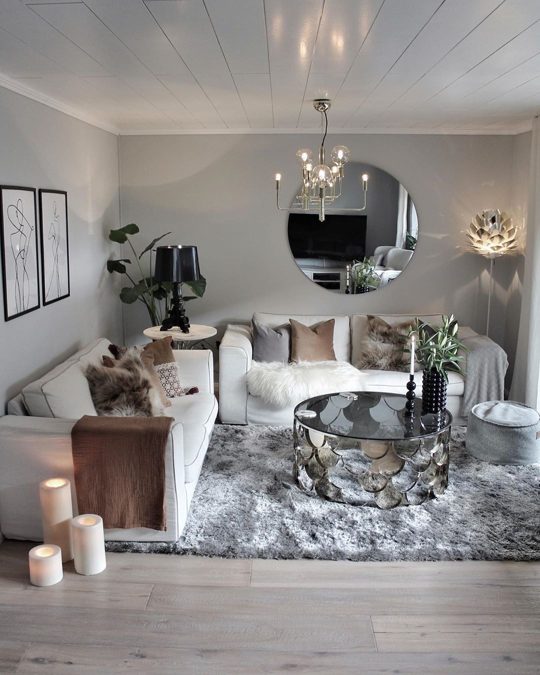31 Trend Living Room Decor Ideas 2020 23 In 2020 Small Living Room Design Luxury Living Room Design Silver Living Room