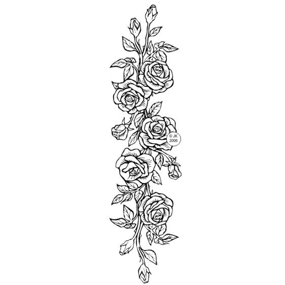 Rose Border Tattoos For Women Flowers Rose Embroidery Pattern Roses Drawing