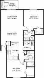 Two Bdrm Two Bath Like This One 3359 Ridgeview Dr Grand Rapids Mi 760 785 Month Two Bedroom Floor Plan Floor Plans Apartment