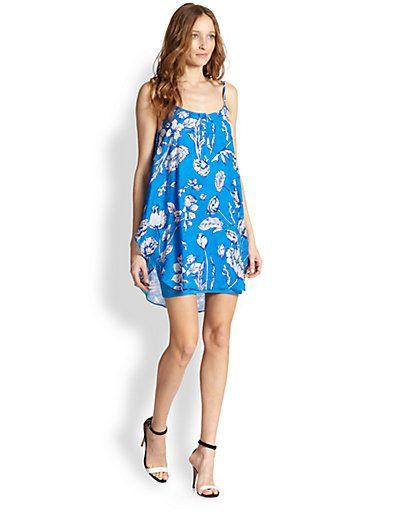 Alice + Olivia - Rhi Silk Chiffon Floral-Print Dress - Saks.com