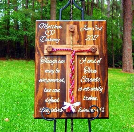 Christian Wedding Reception Ideas: Cord Of Three Strands Wedding, Unity Braids®, Unity