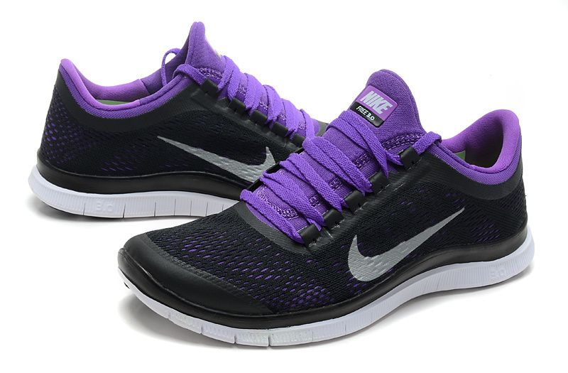 black nike free run mens purple