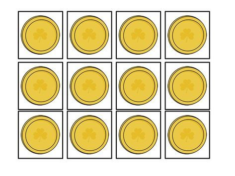 graphic about Printable Gold Coins known as Pin by means of dani upon dani Templates printable totally free, St patricks