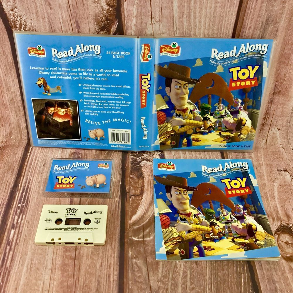 Disney read along toy story book and audio cassette tape