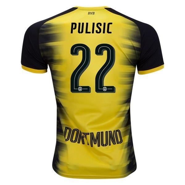 d9dda241a04 PUMA Christian Pulisic Borussia Dortmund European Home Jersey 17/18 ...