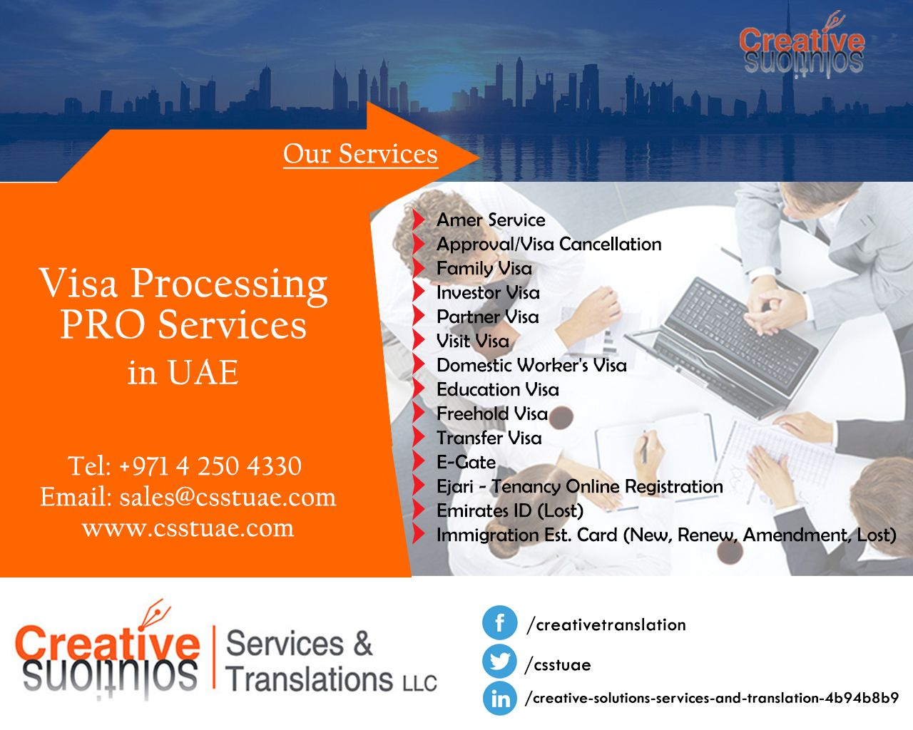Creative Solutions Services & Translation LLC offers wide