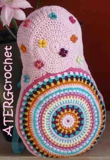 Crochet pattern Matryoshka cushion by ATERGcrochet | Pinterest ...