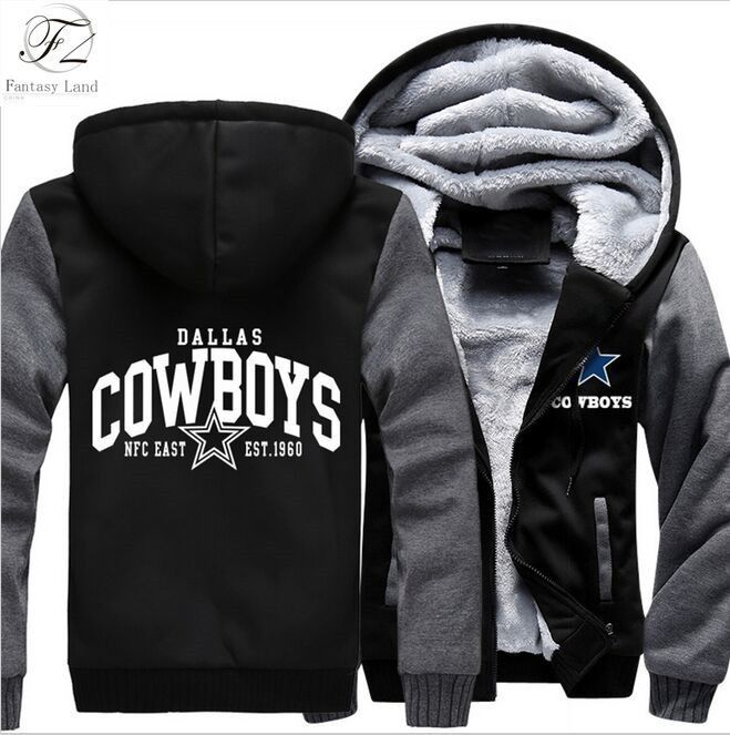 promo code 93c86 459f2 Buy Dallas Cowboys Hoodie Zipper Fleece Jacket-Go Cowboys at ...