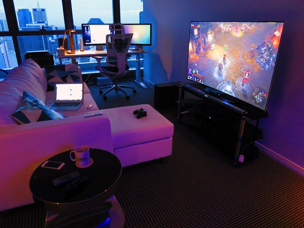 40 Best Game Room Ideas Game Room Setup For Adults Kids Attic Game Room Video Game Rooms Gaming Room Setup