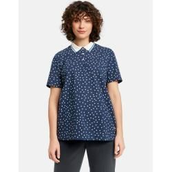 Photo of Blaues Polka Dot Poloshirt Gerry Weber
