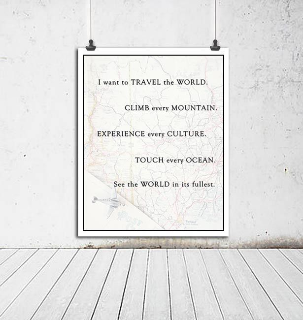Travel The World Print
